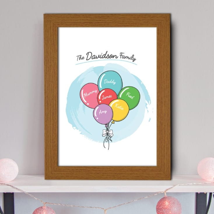 Personalised Balloons Family Print