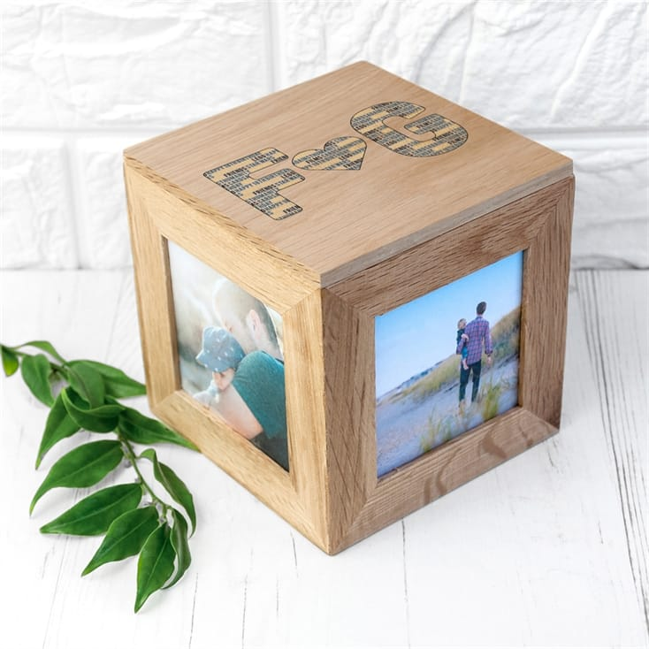 Personalised Couple's Letter Wooden Photo Box