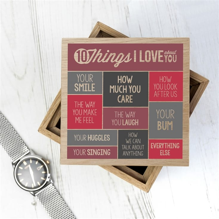 Personalised 10 Things I Love About You Photo Box