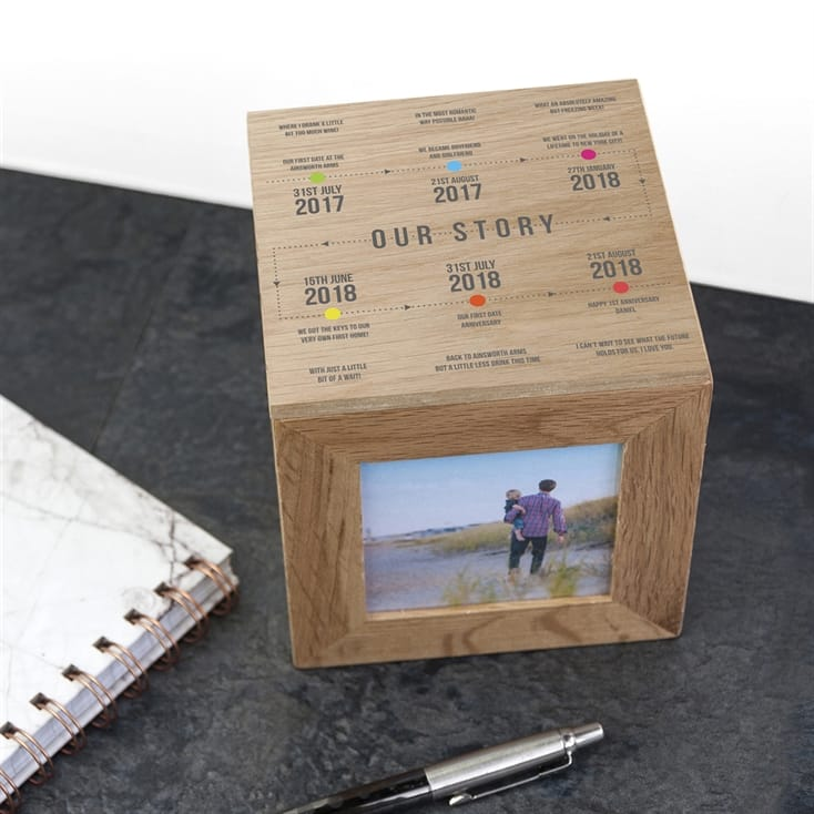 Personalised Our Story Wooden Box