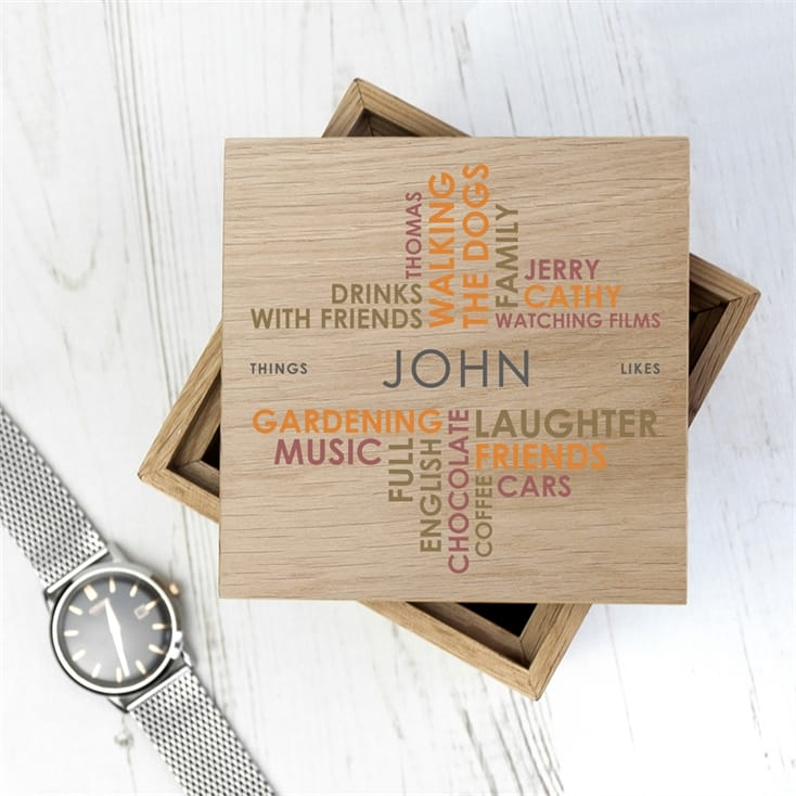 Personalised Likes Wooden Photo Box