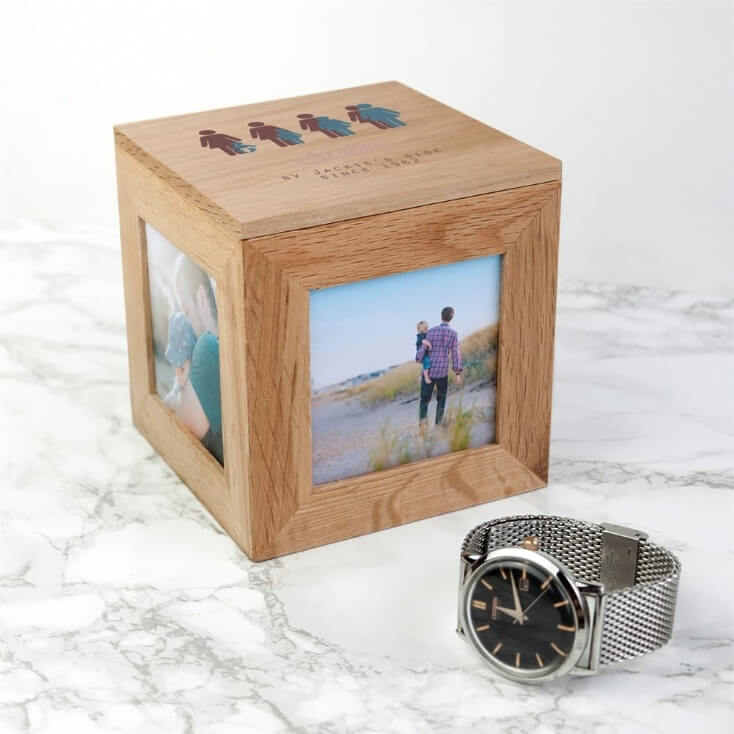 Personalised By My Side Wooden Photo Box