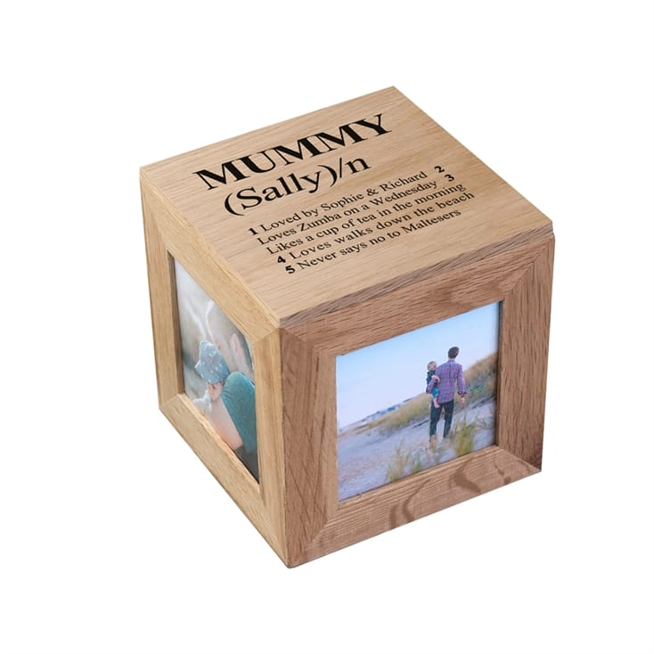 Personalised Dictionary Definition Photo Box