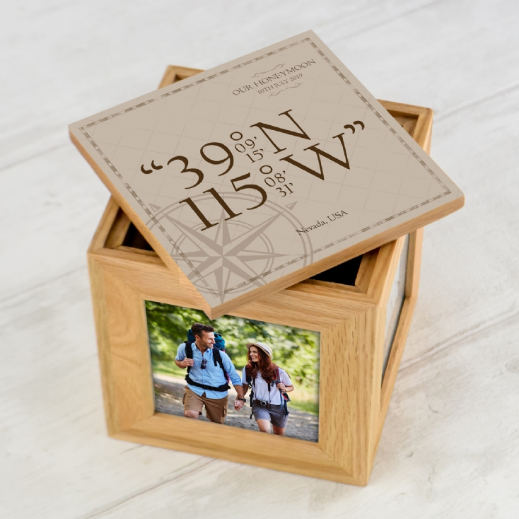 Personalised Coordinates Photo Cube