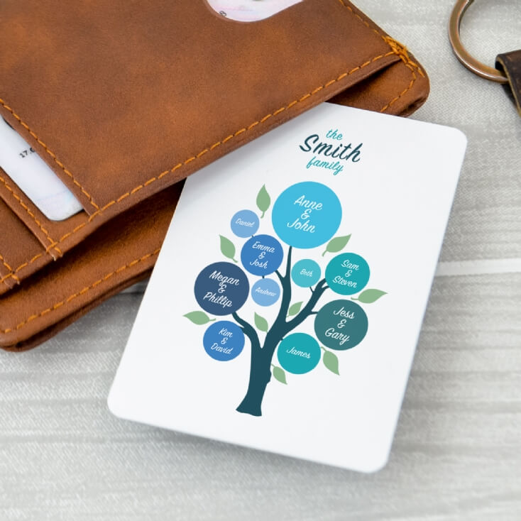 Personalised Family Tree Wallet Insert