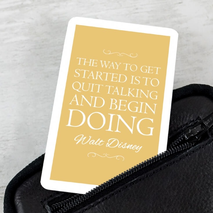 Personalised Favourite Inspirational Quote Wallet Insert