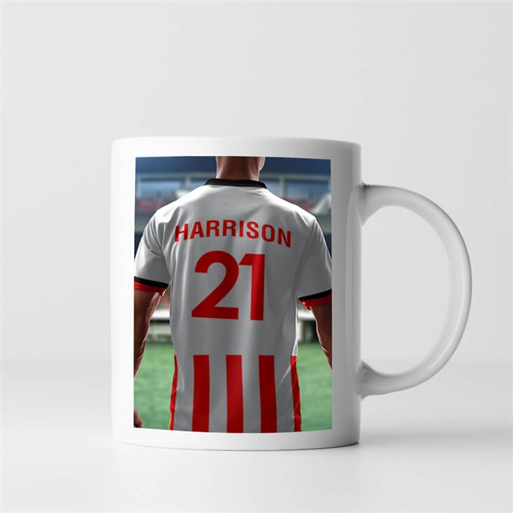 Personalised Football Shirt Mug