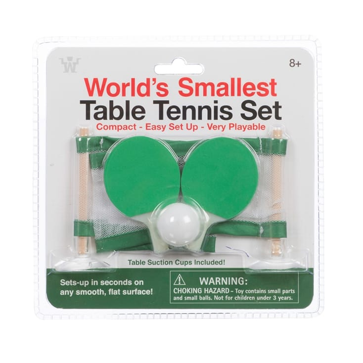 Worlds Smallest Table Tennis