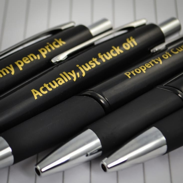 Offensive Ball Point Pens