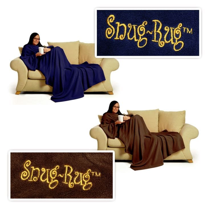 Snug Rug Deluxe  Fleece Blanket With Sleeves