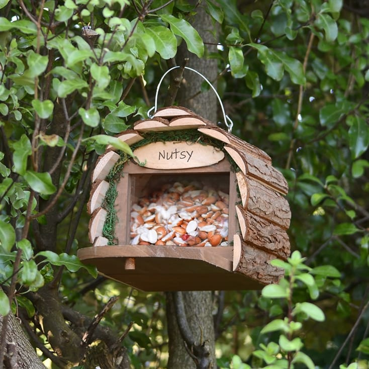 2-in-1 Squirrel Feeder and Bird Nesting Box