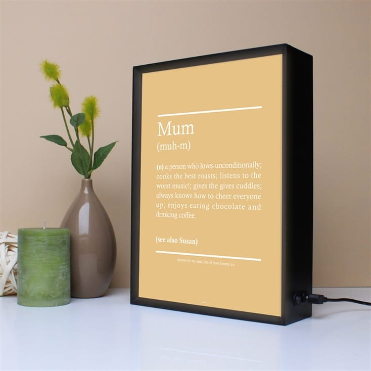 Personalised Dictionary Definition Light Box