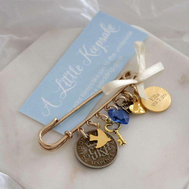 Something Old, New, Borrowed, Blue Wedding Pin