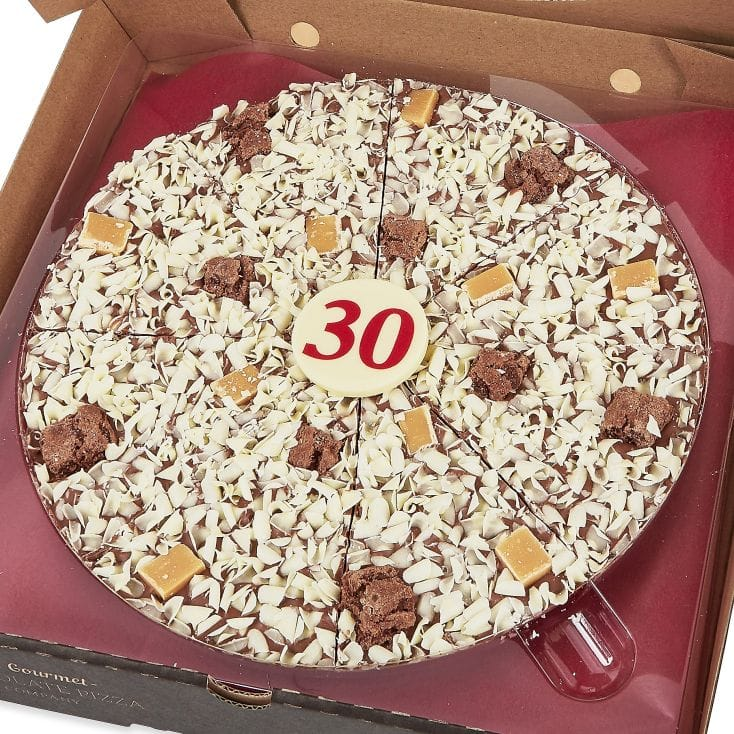 30th Birthday Chocolate Pizza