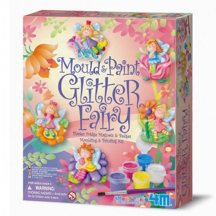 Make Your Own Fairy Fridge Magnets  Mould and Paint Glitter Fairy