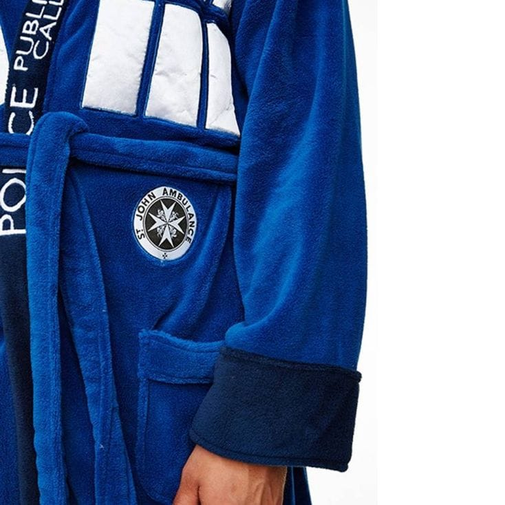 dr who tardis bathrobe with hood