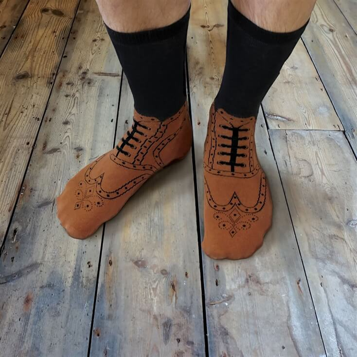 Novelty Brogue Socks