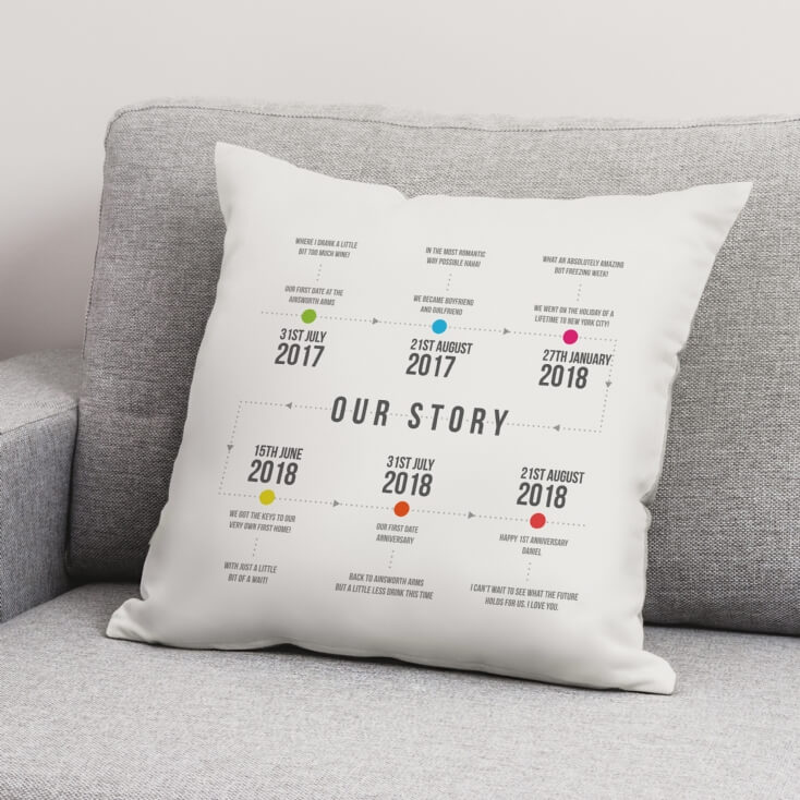 Personalised Our Story Cushion