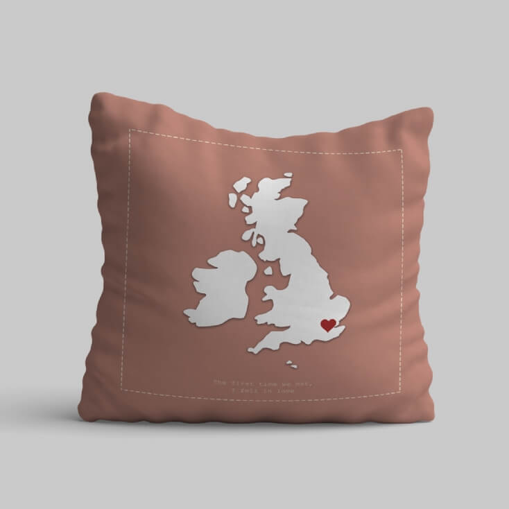 Where We Met Personalised Cushion