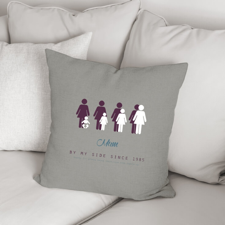 Personalised By My Side Cushion