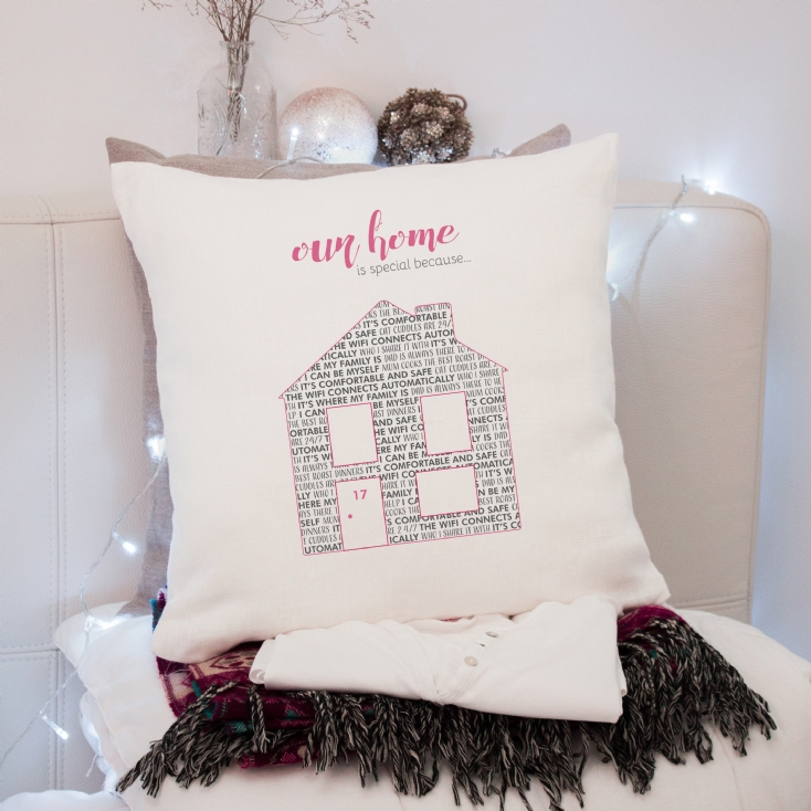 Personalised Our Home is Special Cushion