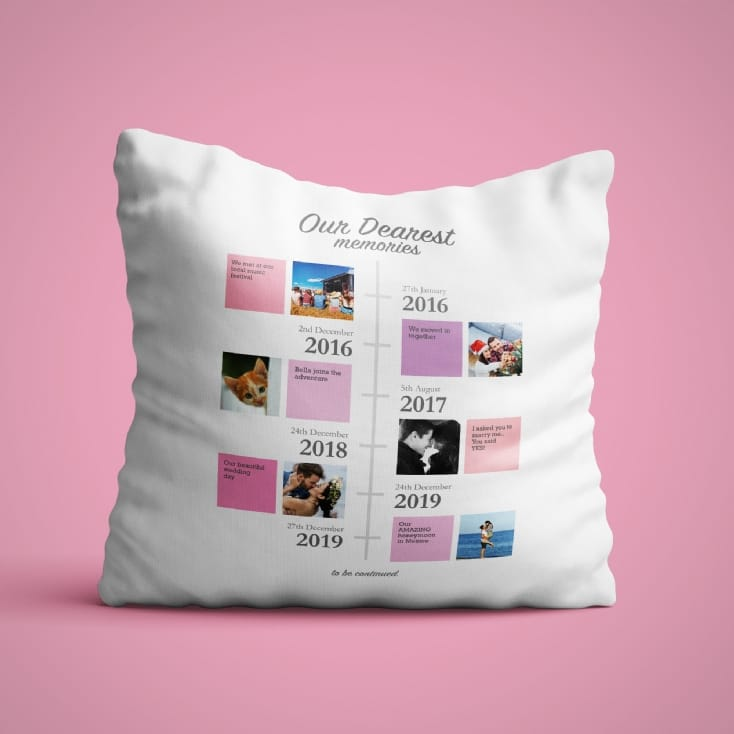 Personalised Our Dearest Memories Cushion