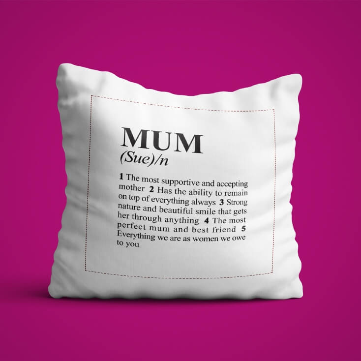 Personalised Dictionary Definition Cushion