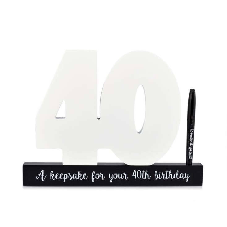 40th Birthday Wooden Numbers