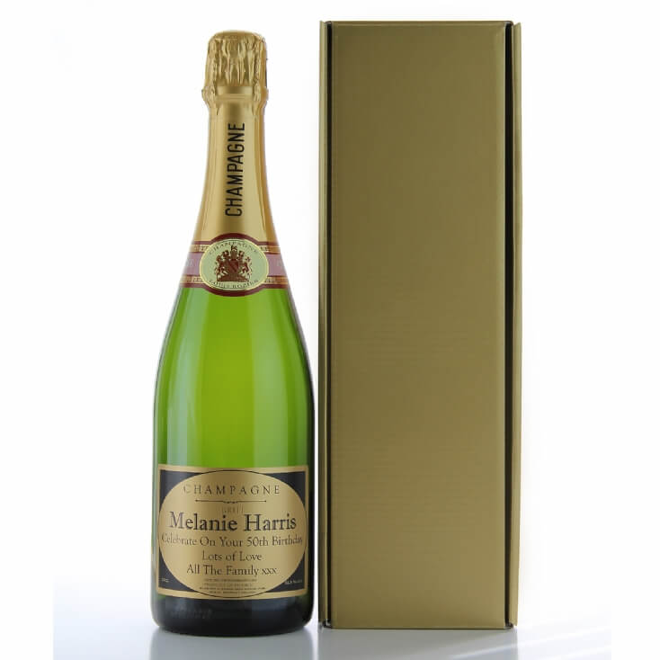 Boxed Bottle Of Personalised Champagne