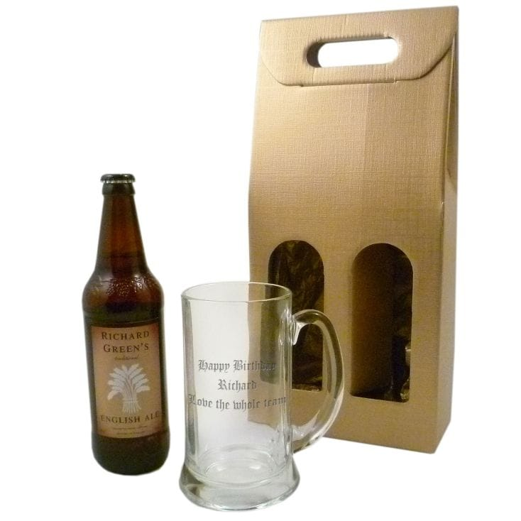 Personalised Ale and Glass Set
