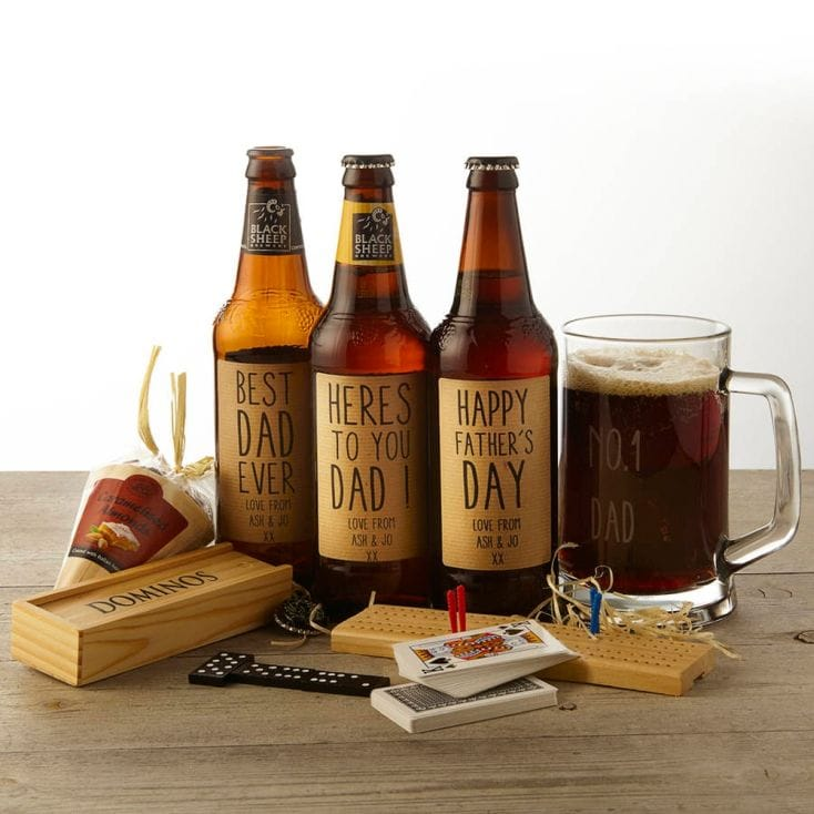 Personalised Ale and Pub Games Gift Set