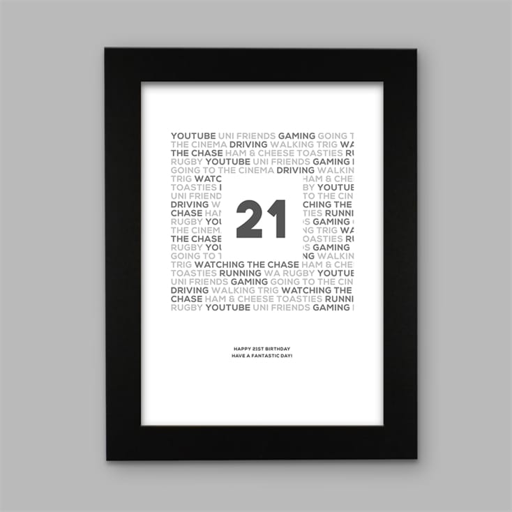 Personalised Birthday Special Age Celebration Print