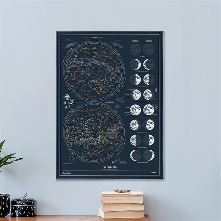Scratch-Off Chartologist Night Sky Print