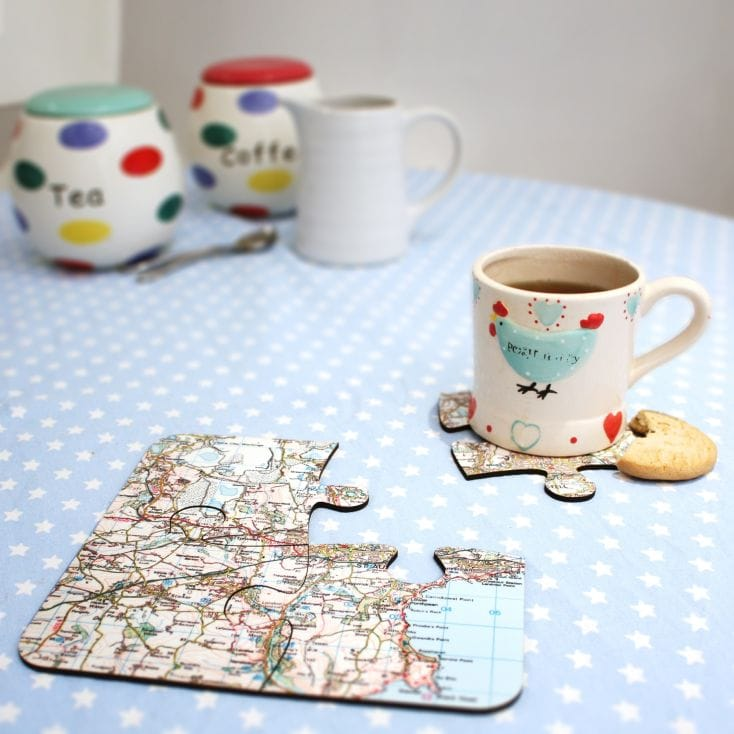 Personalised Map Jigsaw Coasters - Landranger