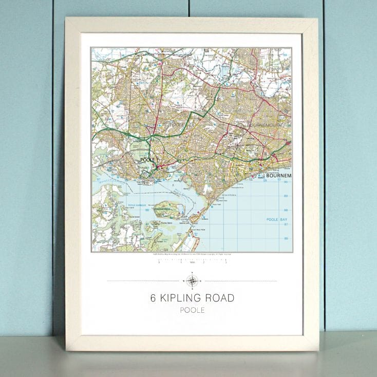 Your Home Personalised Map Print - GB Landranger