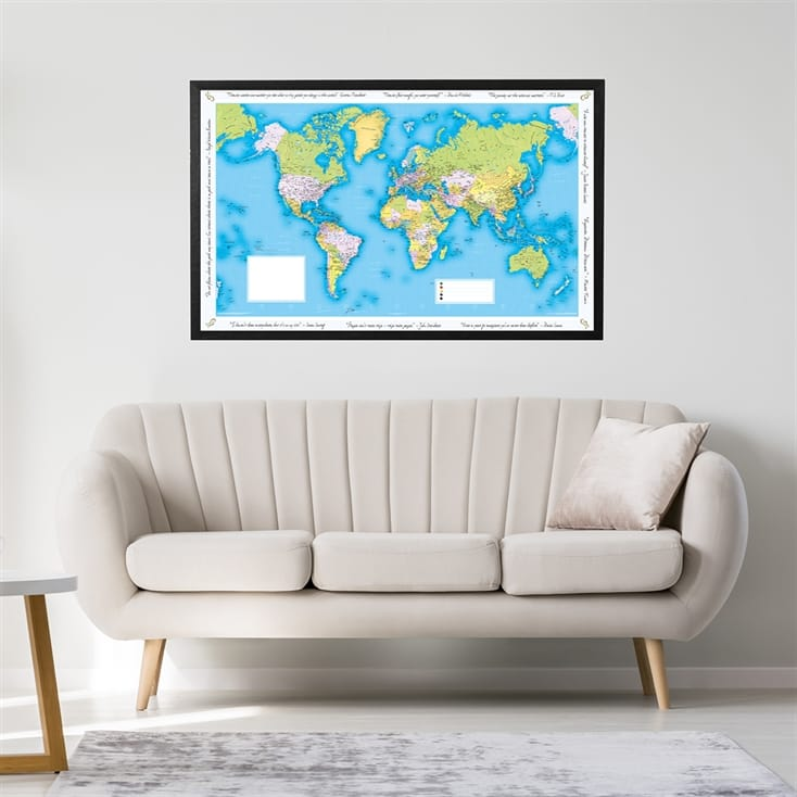Personalised World Traveller Map