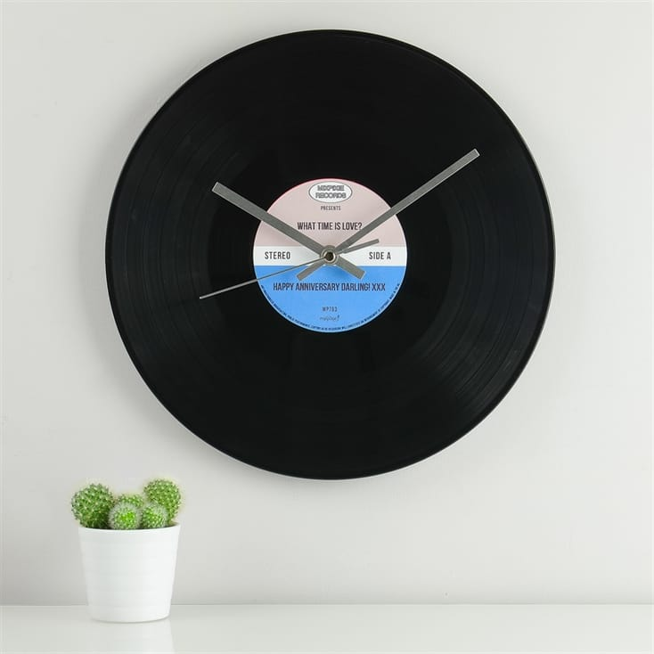 Personalised Vinyl Record Clock Find Me A Gift