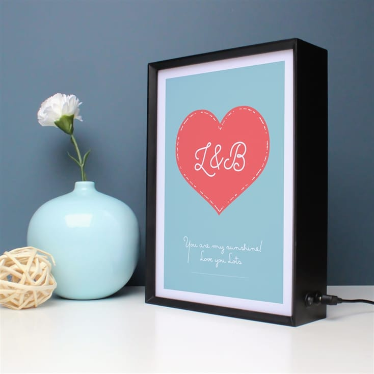 Heart Morse Code Personalised Light Box
