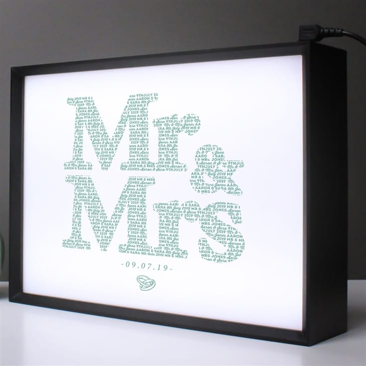 Personalised Mr and Mrs Lightbox