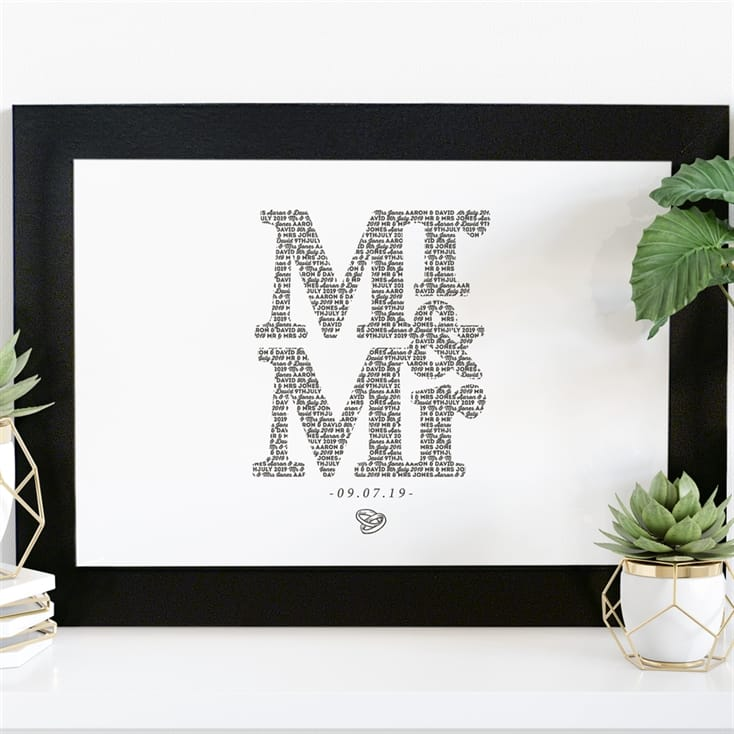 Personalised Mr and Mrs Print