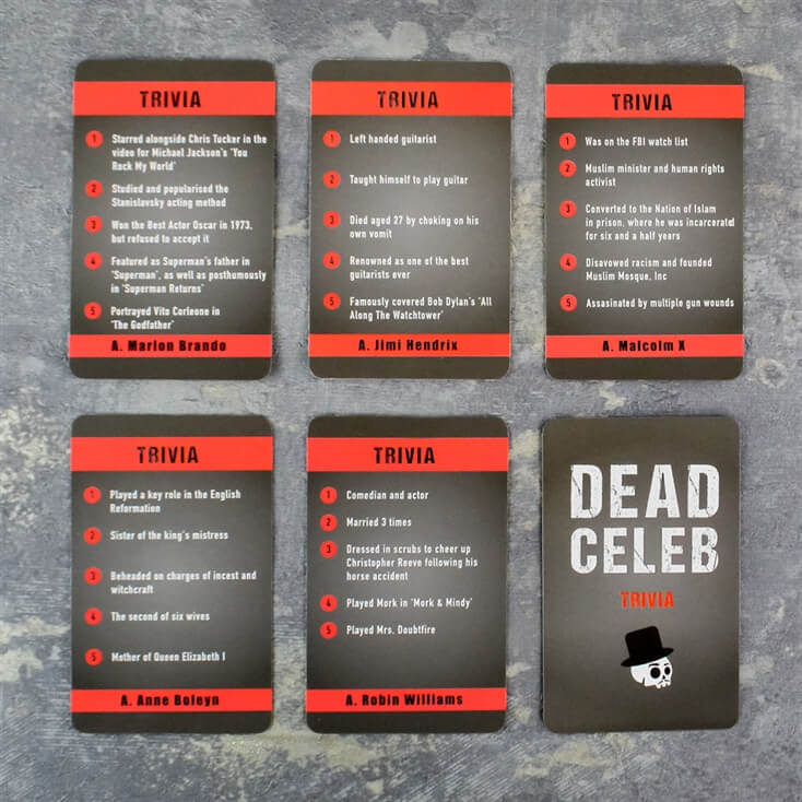 Dead Celebs Card Game