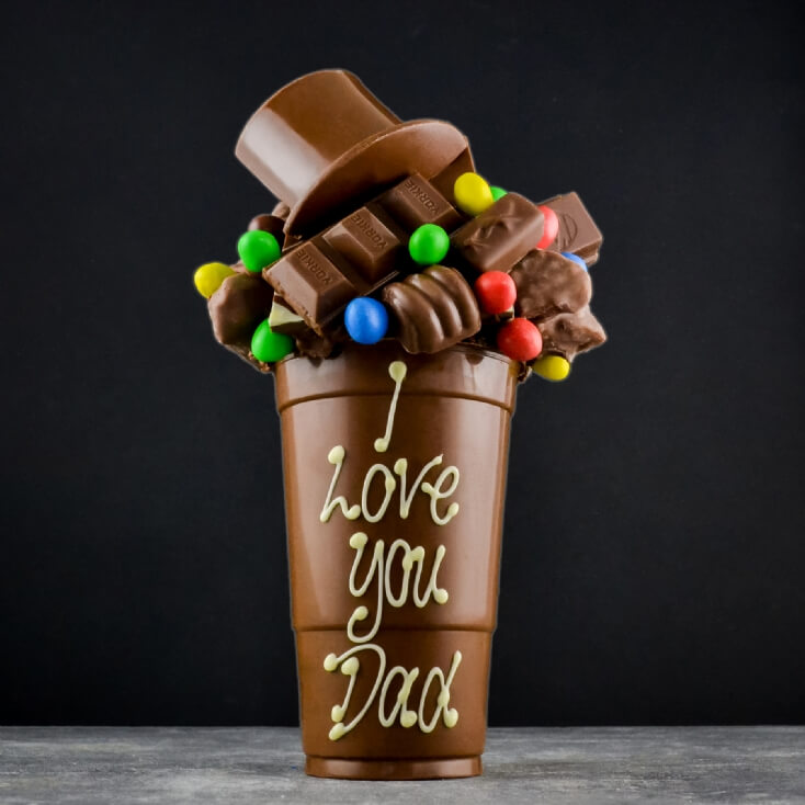 Personalised Top Hat Chocolate Smash Cup