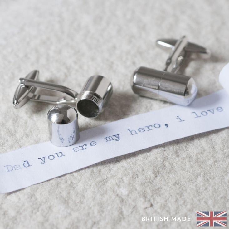 Bespoke Engraved Personalised Loves Daddy Novelty Gift Cufflinks