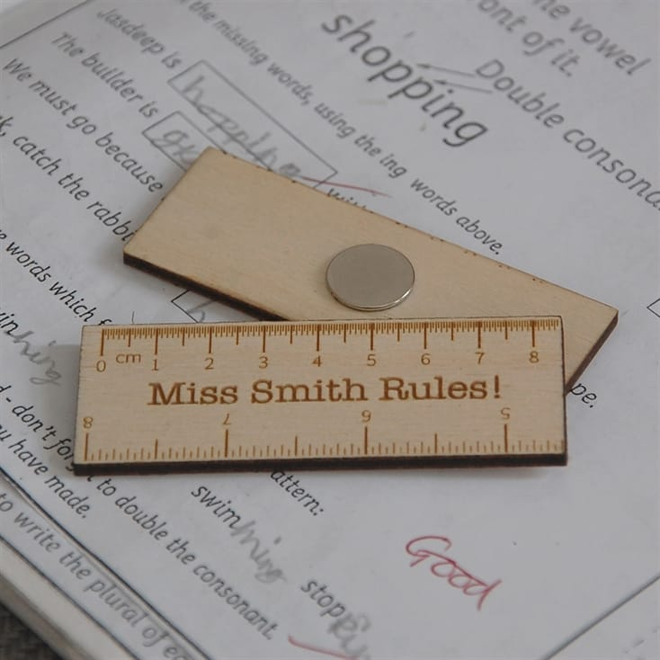 Personalised Wooden Magnetic Ruler