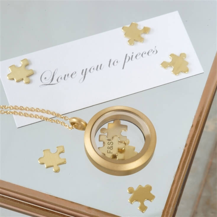 'I Love You To Pieces' Jigsaw Necklace