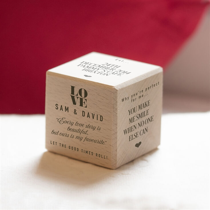 Personalised Wooden Love Dice