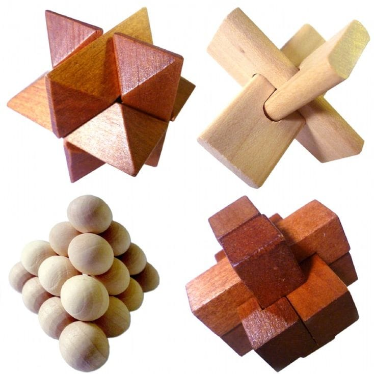 Wooden Puzzle Brain Teasers