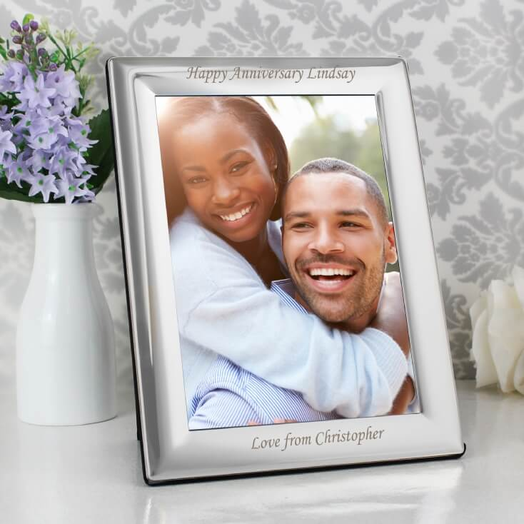 Silver Plated Personalised Photo Frame 7 x 5