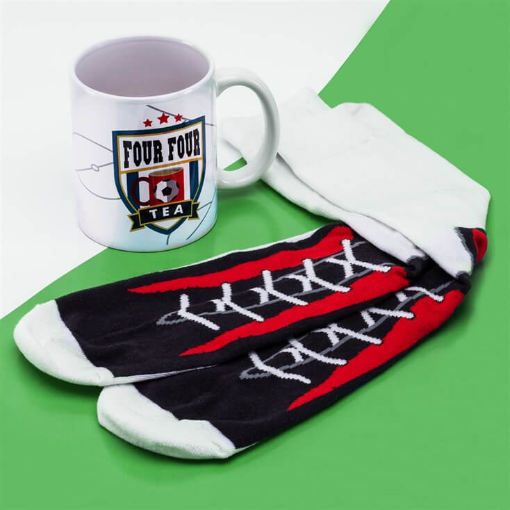 Football Mug and Socks Set