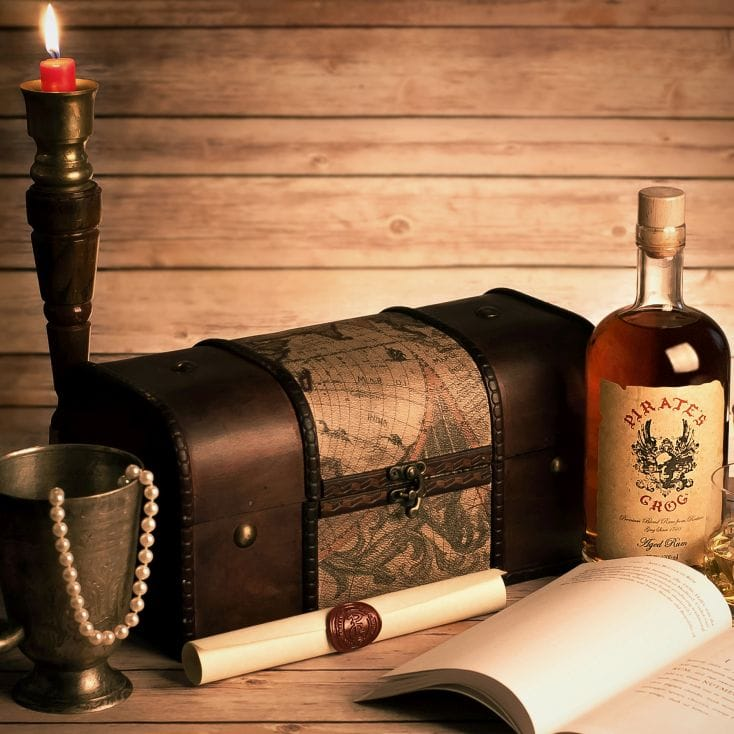 personalised pirates grog gift chest